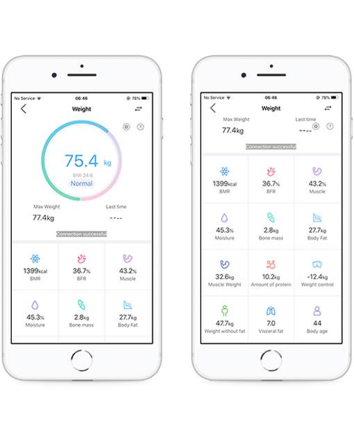 Aplikacija za digitalno osebno tehtnico